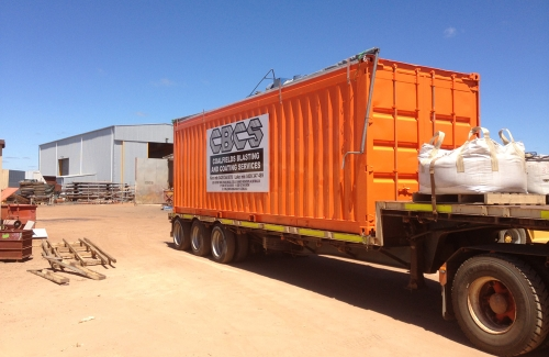 Our Mobile Blast Booths can be transported to any work site in Australia.
