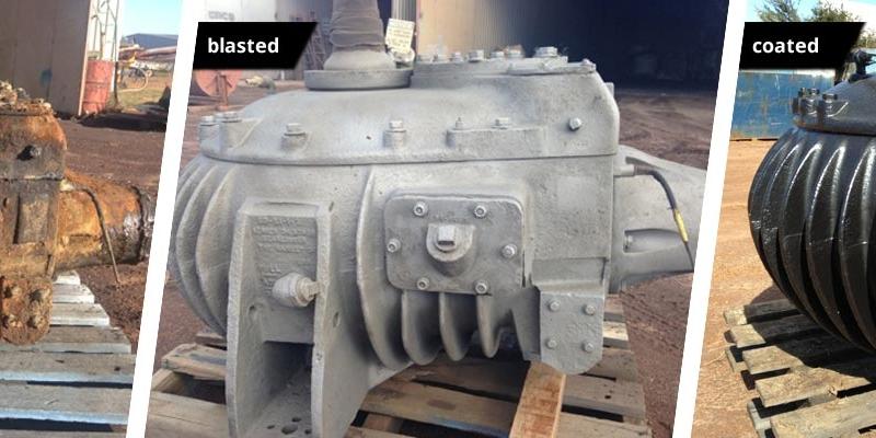 Gearbox - Blasting & Coating