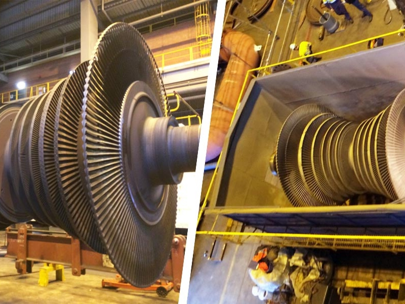 Turbine rotor in mobile blast booth