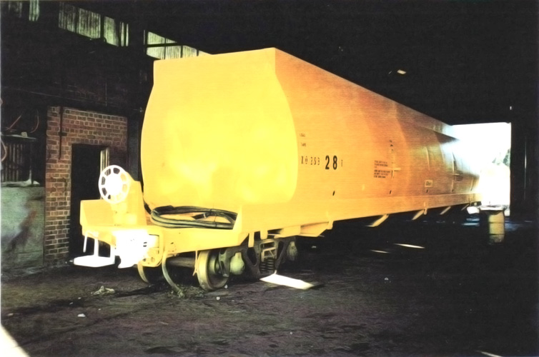 Westrail Wood Chip Wagon. Abrasive blasted back to metal, finished inside with special coating.
