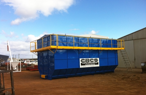 We have two of these transportable Mobile Blast Booths which enable blasting to be carried out in controlled situations anywhere on site – either outside or inside larger workshops.