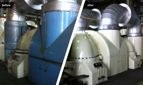 Turbine Cover - before & after